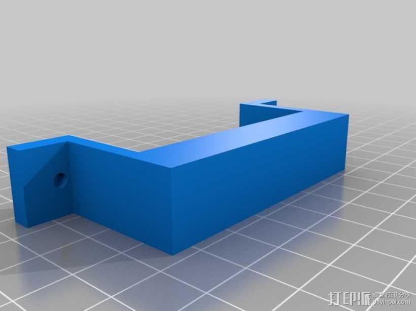 双喷头固定器 3D打印模型渲染图