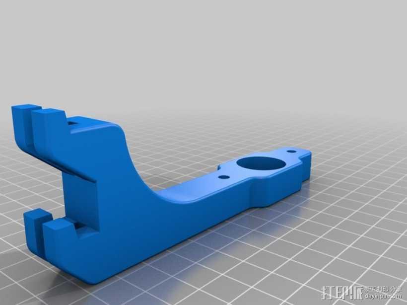 挤出机送料器 3D打印模型渲染图