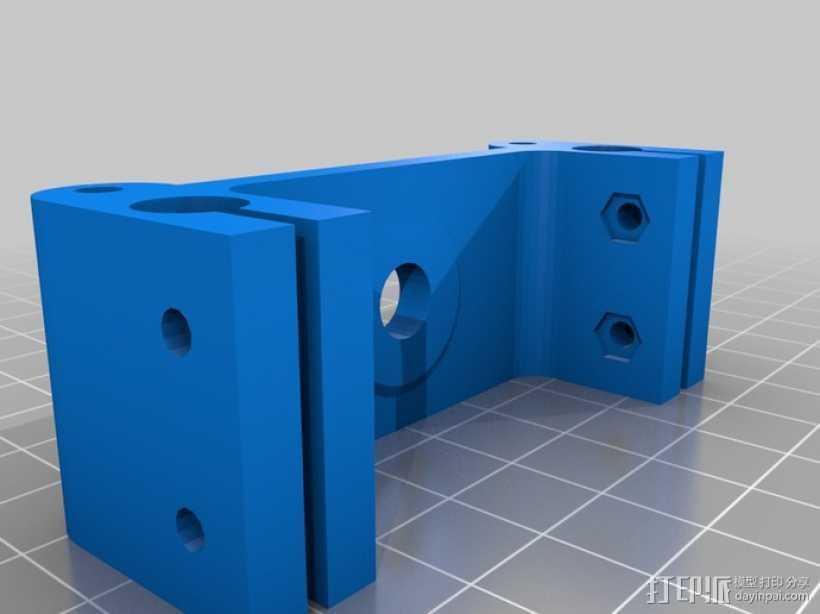 惰轮支架 3D打印模型渲染图