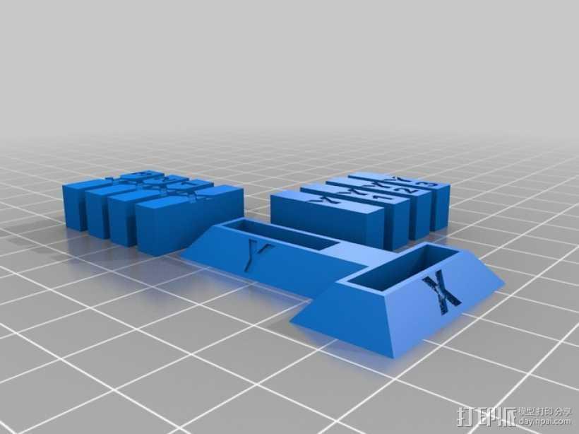 打印机X轴和Y轴的校准器 3D打印模型渲染图