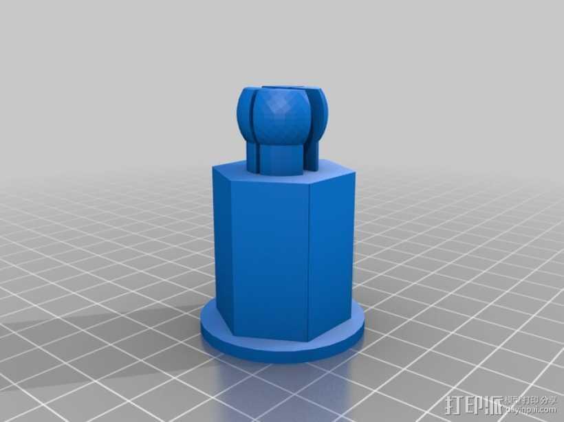 线轴轴栓 3D打印模型渲染图