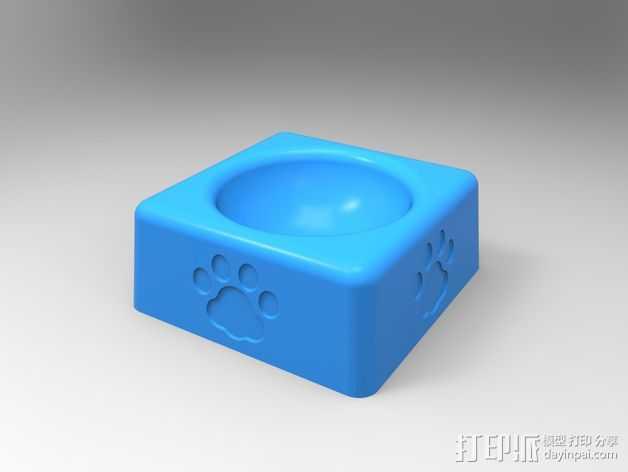 猫粮碗  3D打印模型渲染图