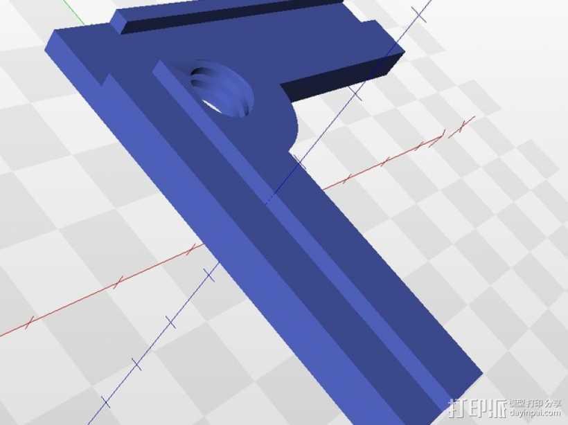 FlashForge Creator打印机的水平平衡器 3D打印模型渲染图