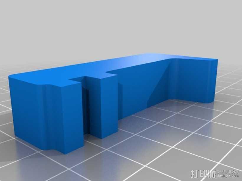 打印机门框支架 3D打印模型渲染图