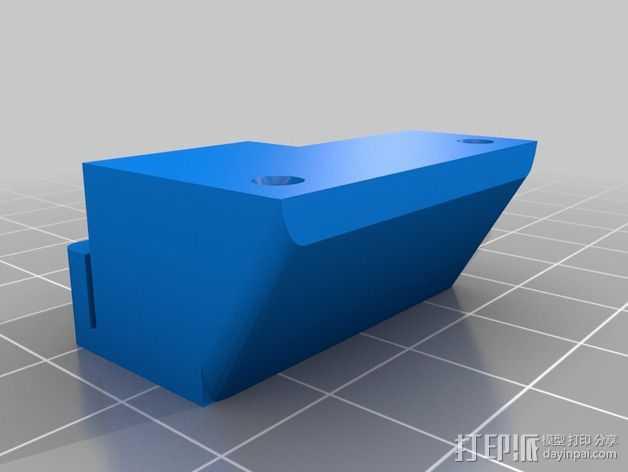 RigidBot 打印机的皮带夹 3D打印模型渲染图