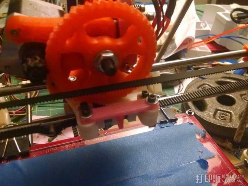 风扇通风导管支架 3D打印模型渲染图