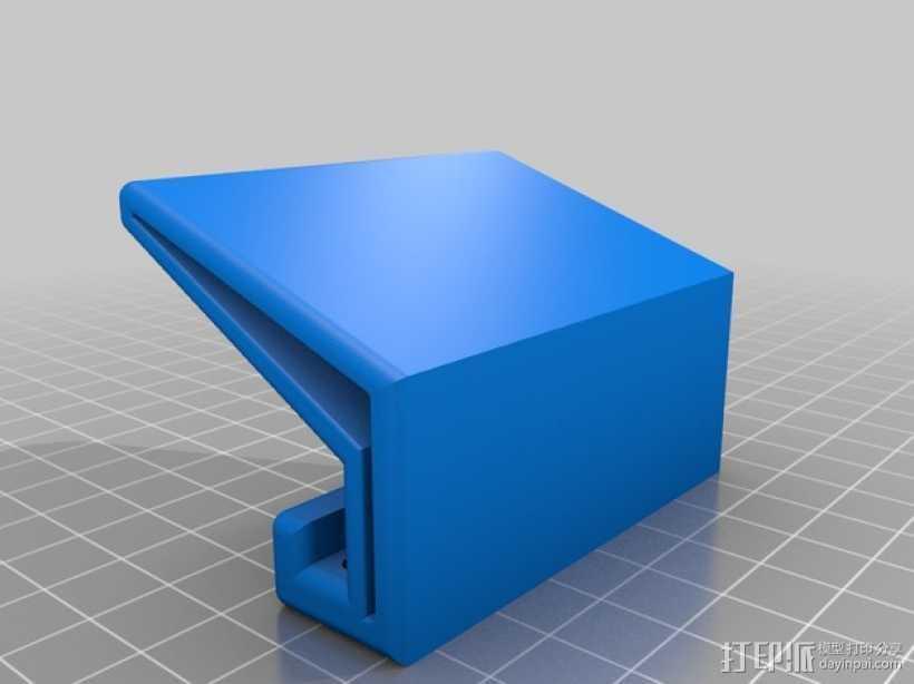 粉红色的手机支架 3D打印模型渲染图