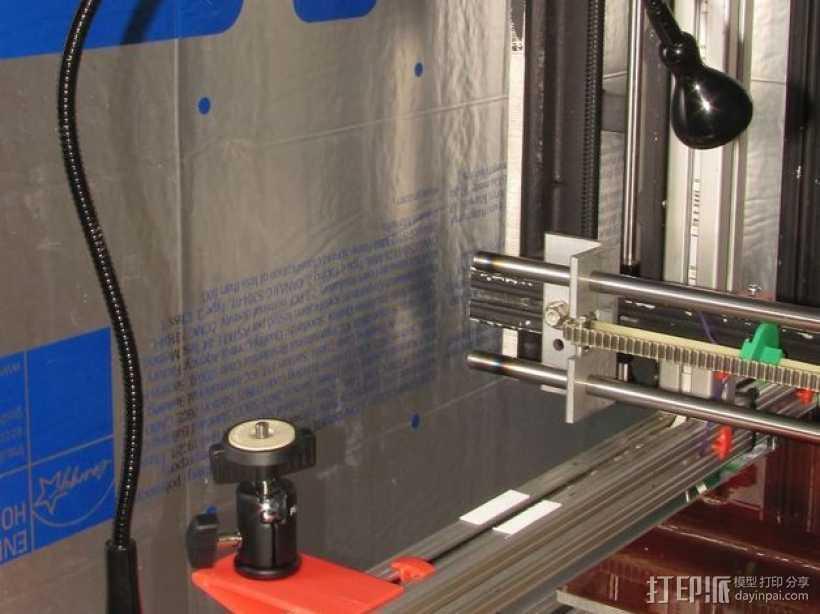 宜家小射灯支架 3D打印模型渲染图