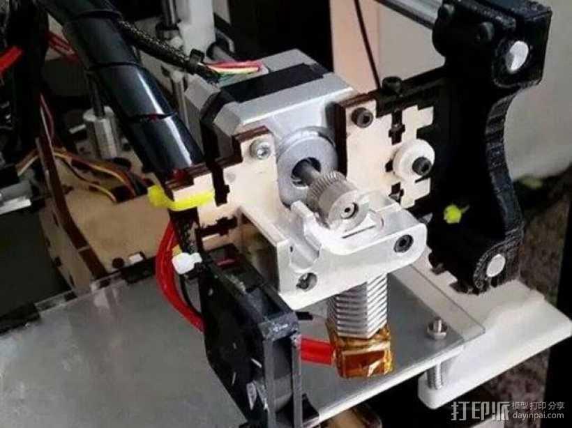 六边形喷头支架 3D打印模型渲染图