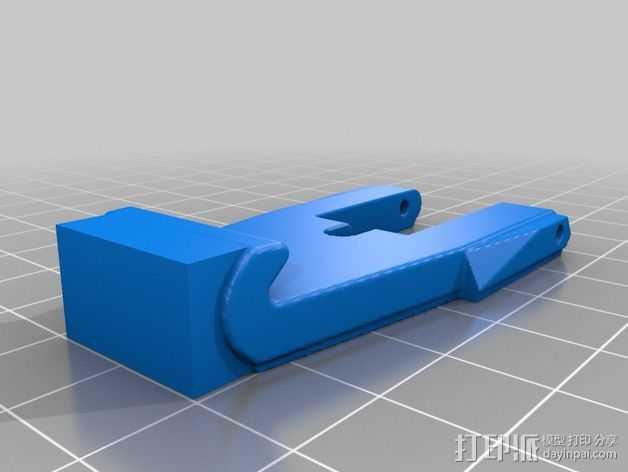 弹簧钩/锁扣 3D打印模型渲染图