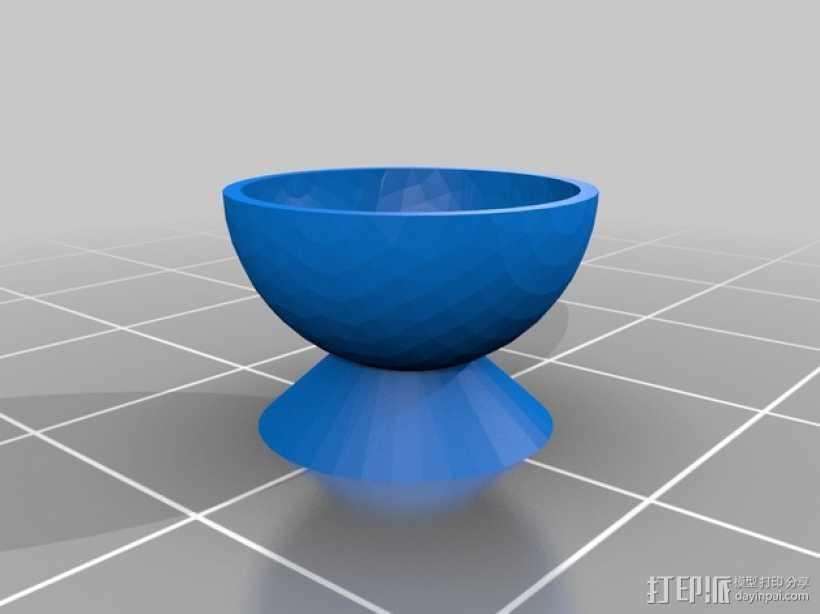 圆底杯垫 3D打印模型渲染图