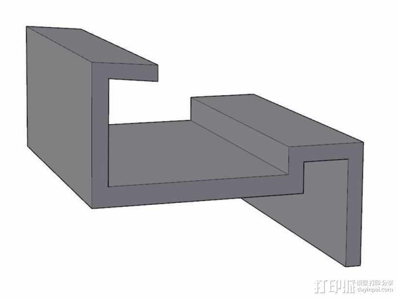 打印床固定夹 3D打印模型渲染图