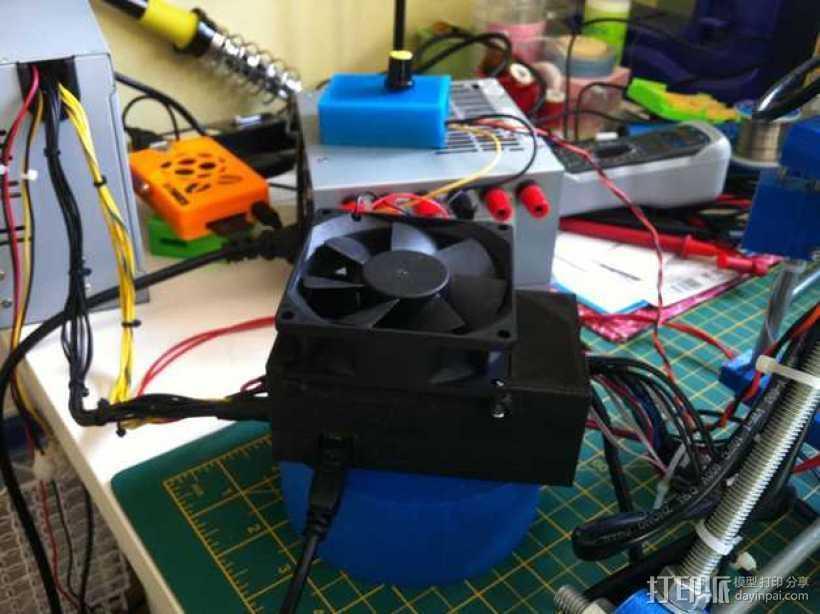 电路板保护罩 风扇 3D打印模型渲染图