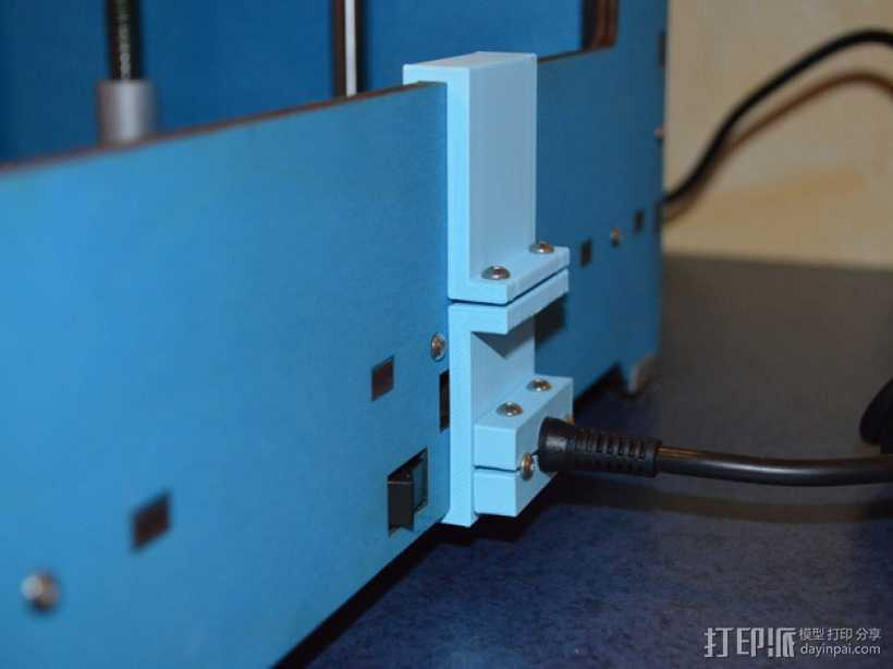 电源电缆固定器 3D打印模型渲染图