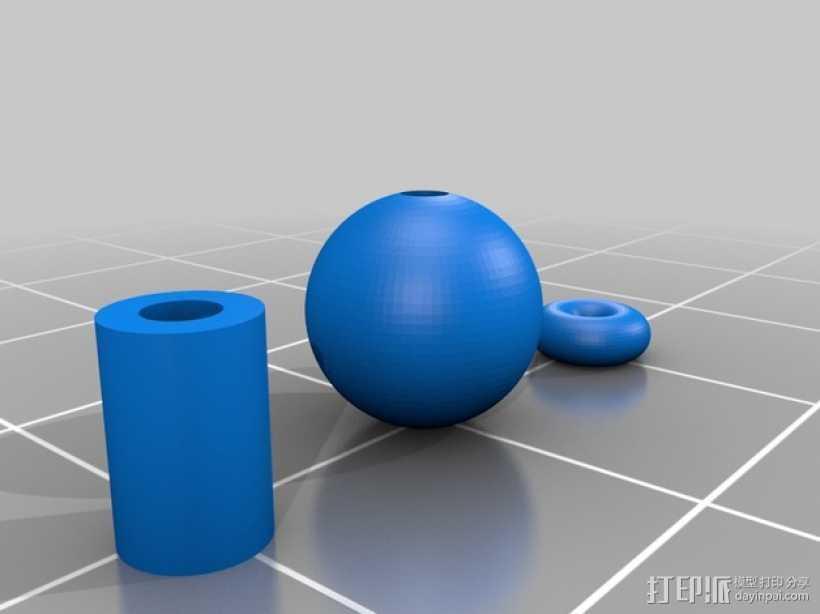 玻璃球 3D打印模型渲染图