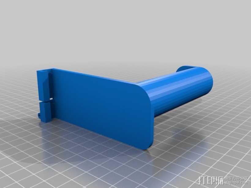 DaVinci打印机的线轴支架 3D打印模型渲染图