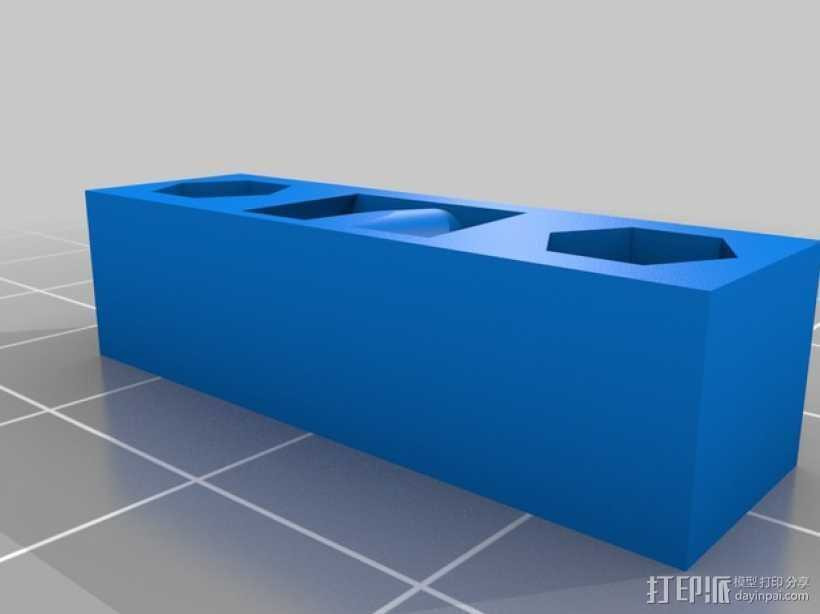 Y轴皮带张紧器 3D打印模型渲染图