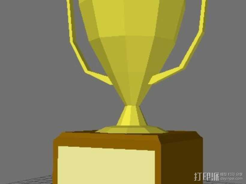 奖杯 3D打印模型渲染图