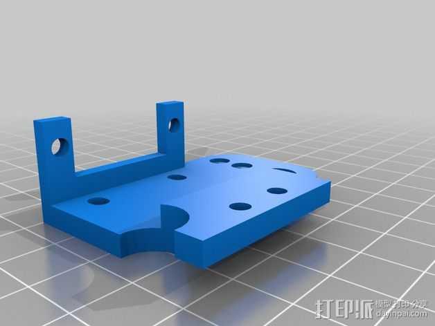 挤出机的马达支架 3D打印模型渲染图