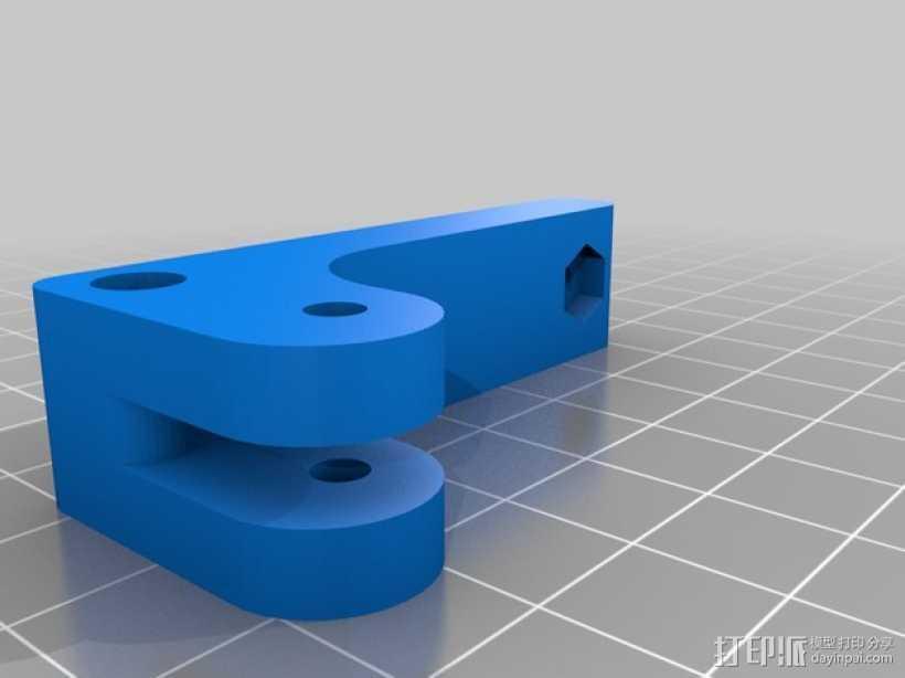 bowden 挤出机 3D打印模型渲染图