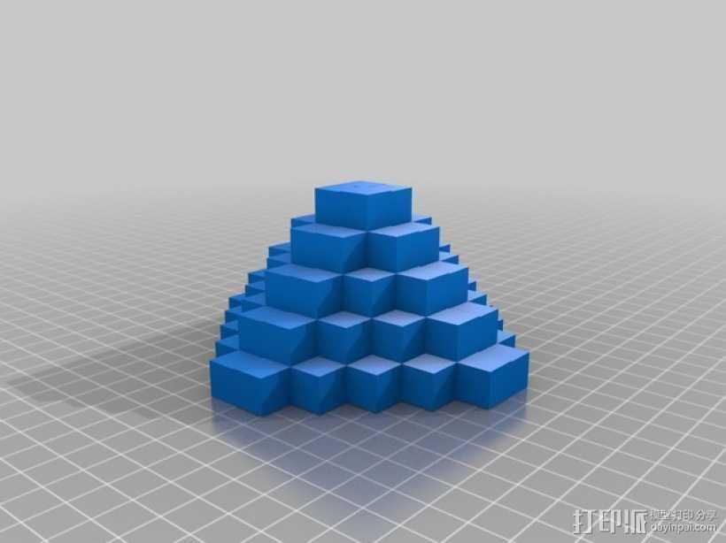 金字塔 砖块 3D打印模型渲染图