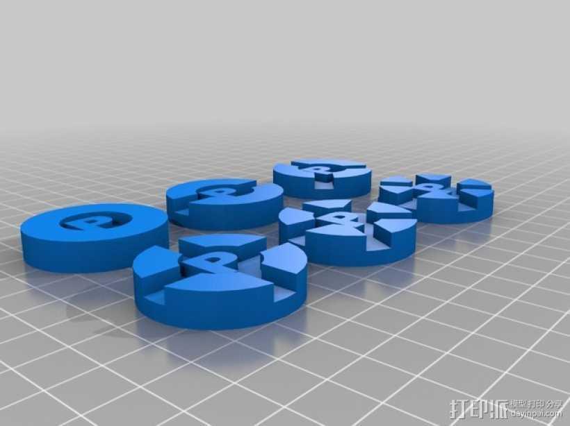 Prime Climb硬币徽章 3D打印模型渲染图