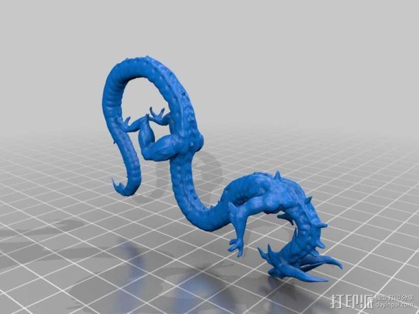 西伯利亚龙 3D打印模型渲染图