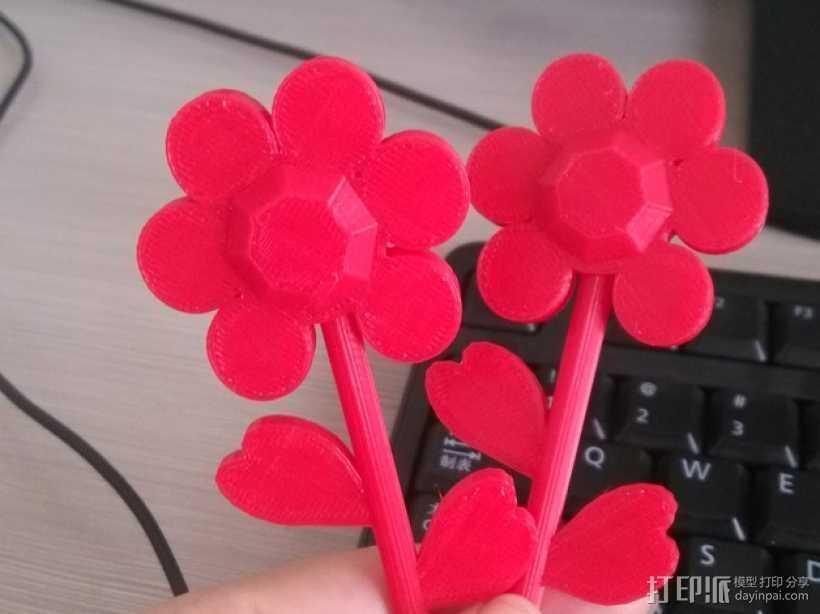 漂亮的两朵花 3D打印模型渲染图