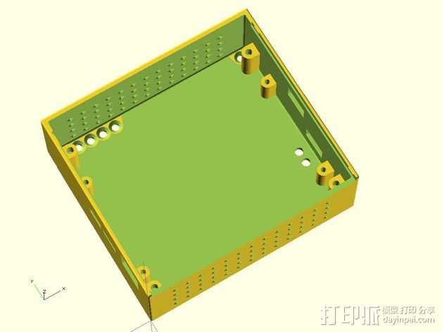 Duet 和DuetX4扩展板保护罩 3D打印模型渲染图