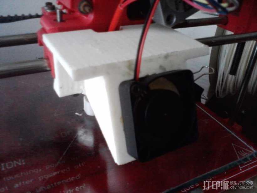Wade's挤出机的风扇支架 风扇罩 3D打印模型渲染图