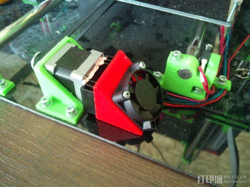 mendel90打印机Y轴的马达风扇通风导管 3D打印模型渲染图
