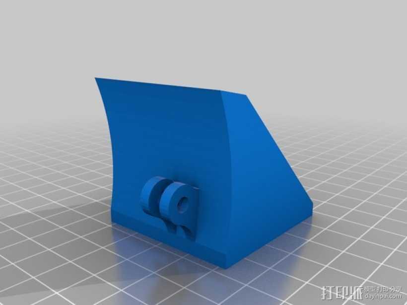 Robo3D打印机的风扇导管 风扇支架 3D打印模型渲染图