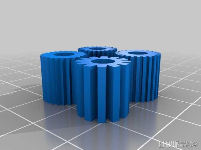 轴杆滑轮 3D打印模型渲染图