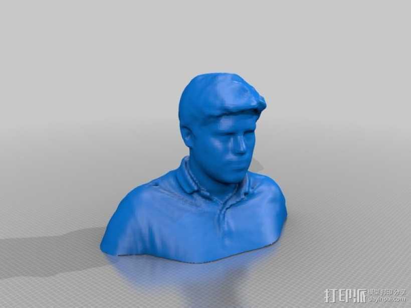 人像模型 3D打印模型渲染图