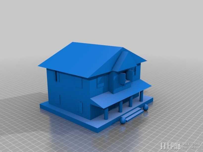 房屋模型 楼房  3D打印模型渲染图