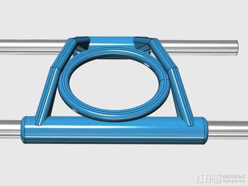 线材导轨 导线器 3D打印模型渲染图