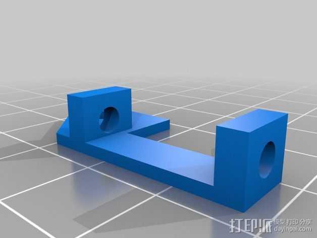 Vellemann K8200打印机Z轴的限位开关支架 3D打印模型渲染图