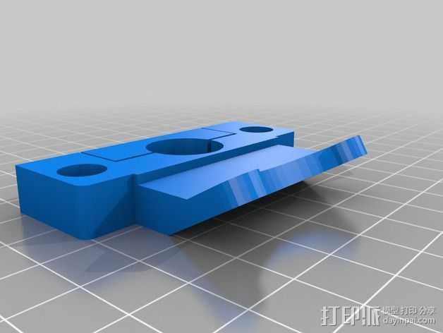 通用式的喷头支架 3D打印模型渲染图