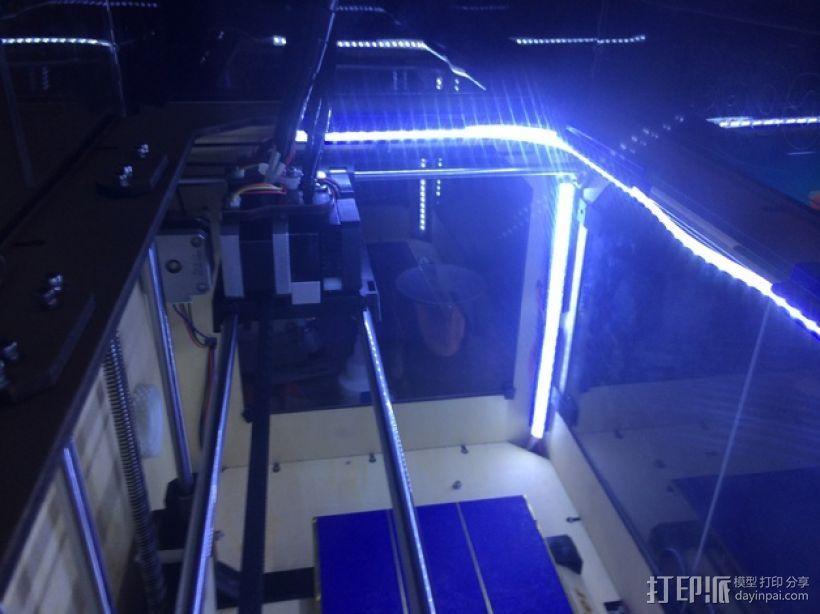 LED灯带支架 3D打印模型渲染图