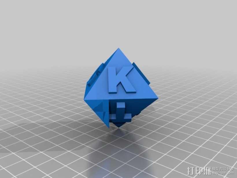 金士顿多面体 3D打印模型渲染图