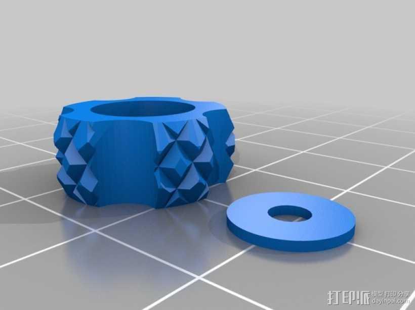 调节旋钮 控制旋钮 3D打印模型渲染图