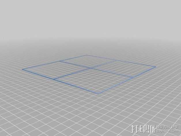 DaVinci 1.0打印机的校准器 3D打印模型渲染图