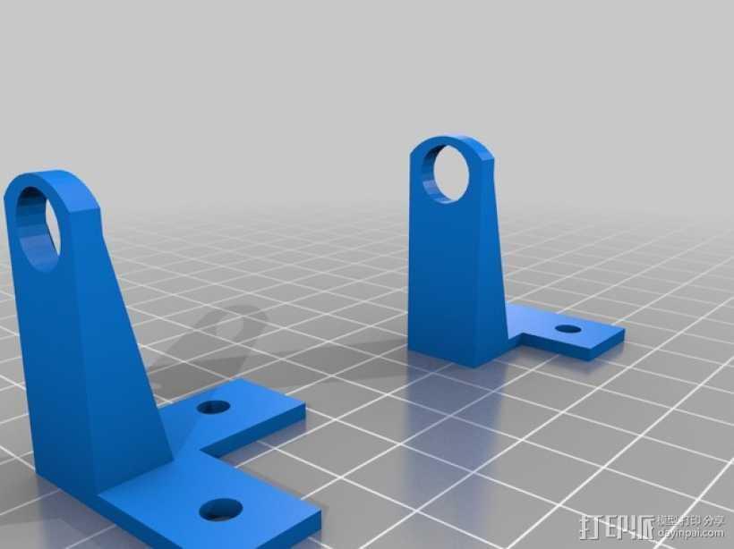 PrintrBot Simple打印机的导线器 3D打印模型渲染图