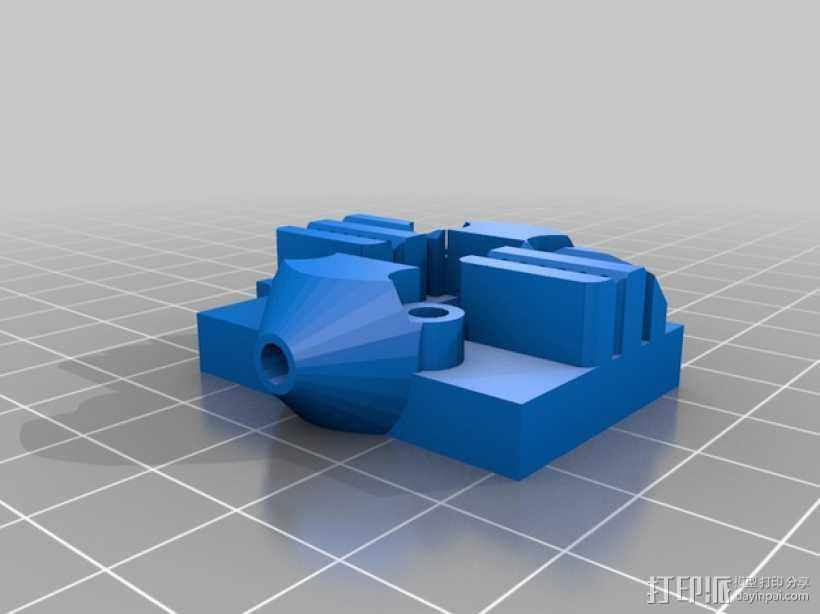 Kossel Mini 打印机的滑轨 3D打印模型渲染图