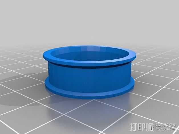 608zz轴承惰轮 3D打印模型渲染图