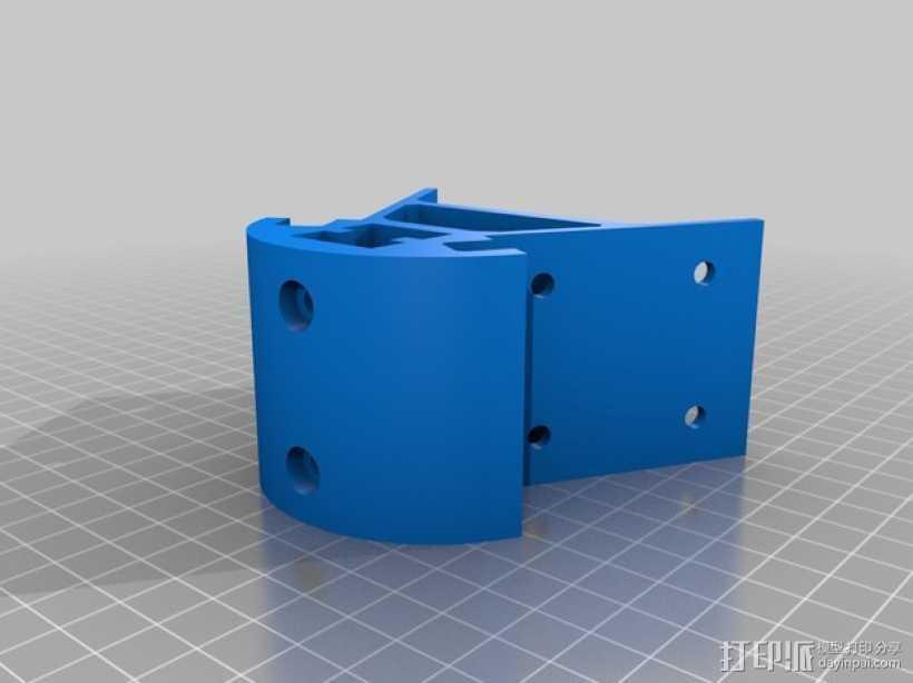 Kossel mini 打印机底部支撑器 3D打印模型渲染图