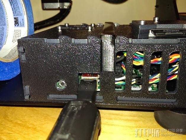电源/电路板 固定夹 3D打印模型渲染图