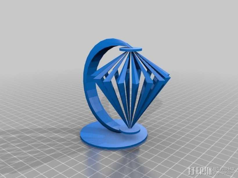 小台灯 3D打印模型渲染图