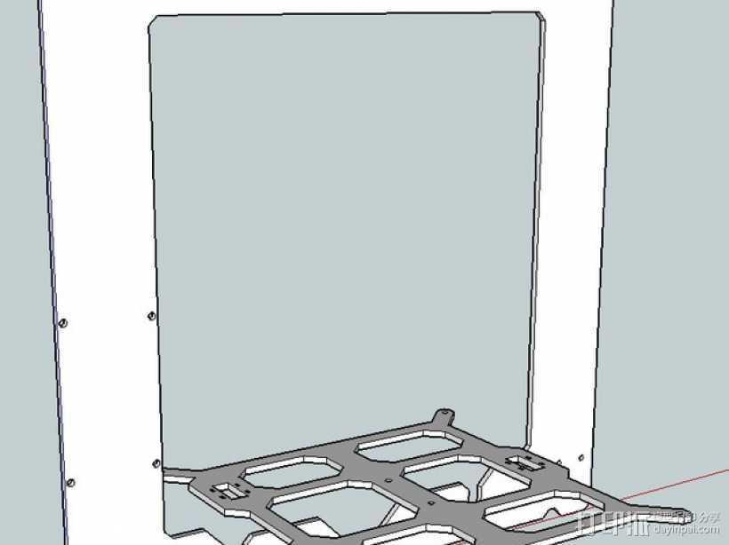 Prusa i3打印机框架 3D打印模型渲染图