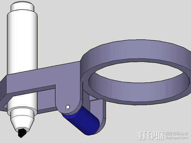 打印笔支架 3D打印模型渲染图